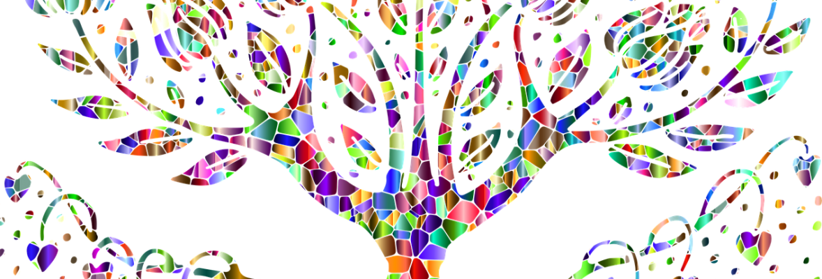 Baum aus Mosaiksteinen | bunt und einzigartig Coaching - Nicole Gollan