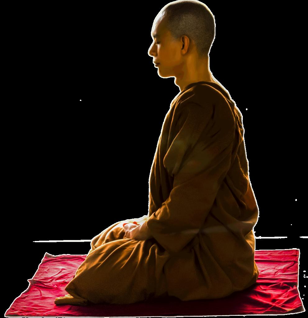 meditierender Mönch - Veranstaltungen | Nicole Gollan